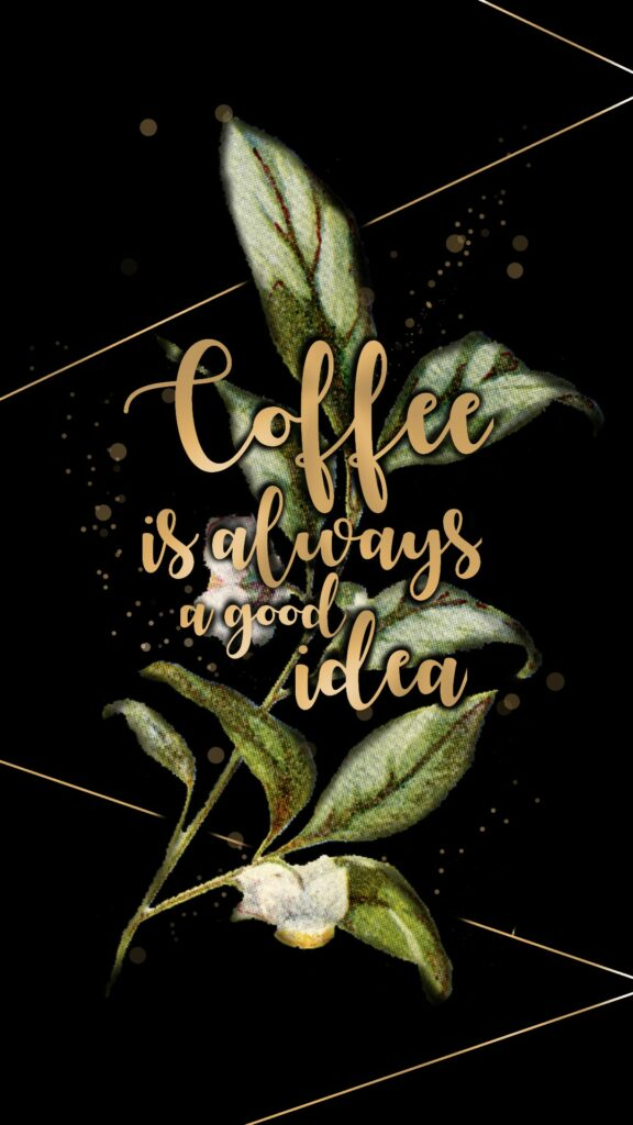 coffee-flowers-and-lines-phone-wallpaper