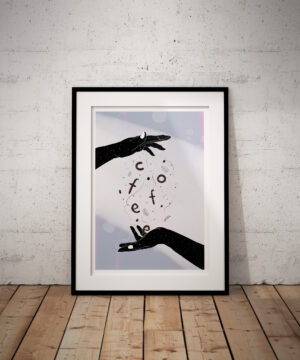 coffee-hands-magic-cosmos-poster